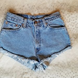 LEVIS shorts high waisted booty shorts vintage